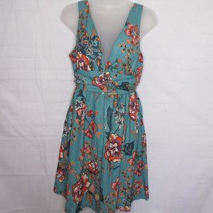 Low Cut Floral Halter Dress